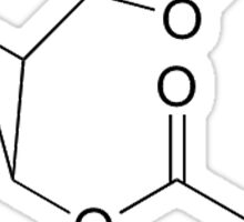 Cocaine Molecule Sticker