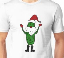 Funny Cool Pickle Santa Claus ChristmasArt Unisex T-Shirt