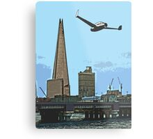 Flying past the Shard in 2020 Metal Print