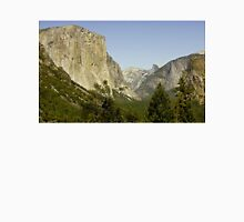 El Capitan with Half Dome in the Distance Unisex T-Shirt