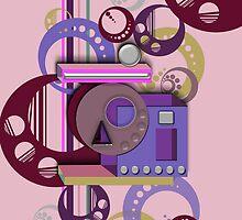 3D Shape iPhone Case IX by Cherie Balowski