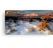 Mt Ngauruhoe in the Cloud Canvas Print