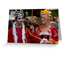 King and Queens of Woodford Greeting Card