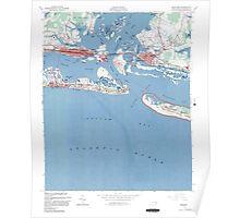 Historical Map of Beaufort North Carolina Poster