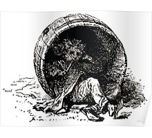 Achille Sirouy Mark Twain Les Aventures de Huck Huckleberry Finn illustration p007 Poster