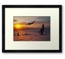 A Winter Sortie Framed Print