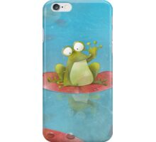 Waving Frog On A Lily Pad iPhone Case/Skin