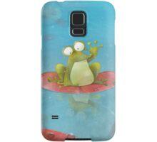Waving Frog On A Lily Pad Samsung Galaxy Case/Skin