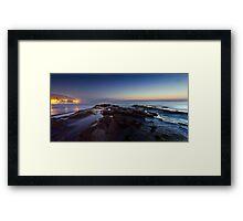 Rocks by Moonlight Framed Print