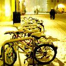 Snowy Salzburg Bikes by PhotoLouis