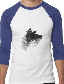 The Black Crow Men's Baseball ¾ T-Shirt