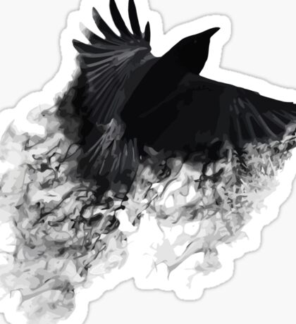 The Black Crow Sticker