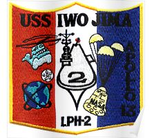 LPH-2 Recovery of Apollo 13 Patch Poster