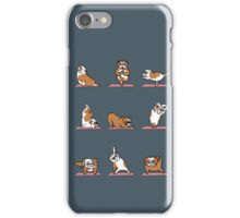 English Bulldog Yoga iPhone Case/Skin