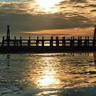 The Old St. Annes Pier. by Lilian Marshall