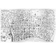 Historical Map of 1882 Wilmington North Carolina Poster