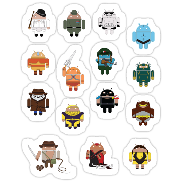 DroidArmy: Maclac Squadron (Mini Stickers) by maclac