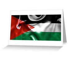 Jordan Flag Greeting Card