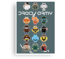 DroidArmy: Maclac Squadron (on your wall!) Canvas Print