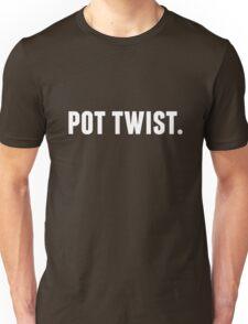 Pot Twist. in white Unisex T-Shirt