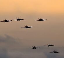 Spitfires over Duxford by PhotoLouis