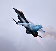 F-16 After Burn by PhotoLouis