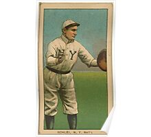 Benjamin K Edwards Collection Admiral Schlei New York Giants baseball card portrait 003 Poster