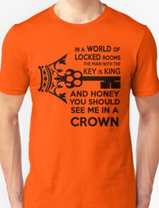 Moriarty Key Quote - Black Text Unisex T-Shirt