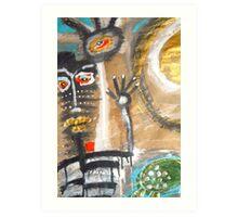 momma honu series Art Print