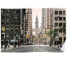 Before sunset at downtown Toronto Poster