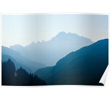 Layers of light, Livinallongo, Dolomite Mountains, Italy Poster