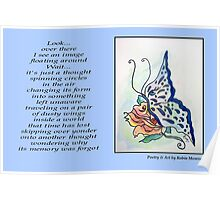 Poetry in Art - Just a Thought Poster
