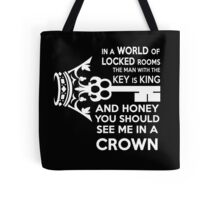 Moriarty Key Quote - White Text Tote Bag