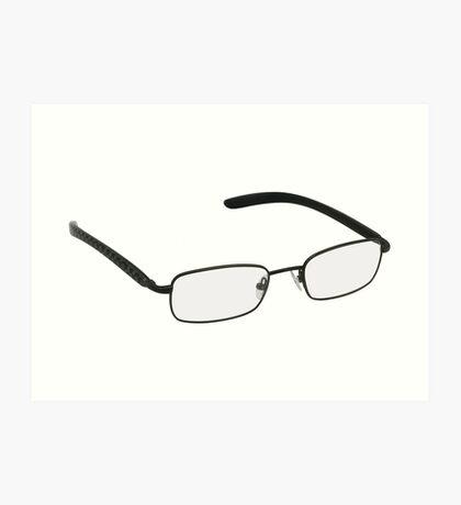 Glasses in black rim. Art Print
