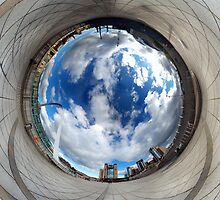 Gateshead Quayside Stereographic Projection Rabbit Hole by Philip  Whittaker