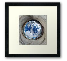 Gateshead Quayside Stereographic Projection Rabbit Hole Framed Print
