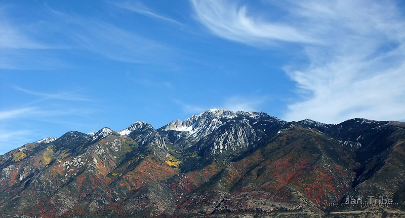 Autumn Colors ~ Wasatch Mountain Range ~ Lone Peak by Jan  Tribe