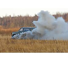 The explosion of car 1. Photographic Print