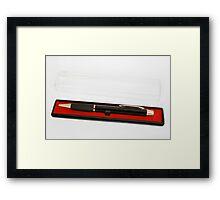 Pen in encasement Framed Print