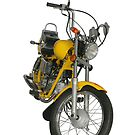 Yellow motorbike by fotorobs
