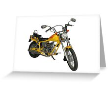 Yellow motorbike Greeting Card