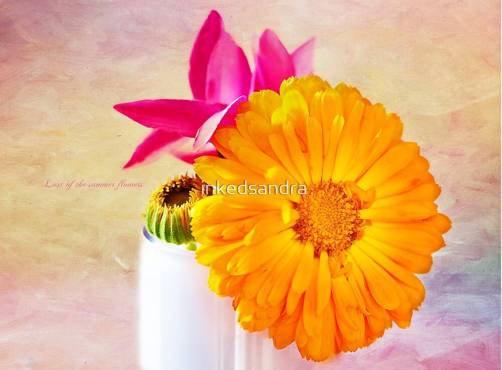 Last of the summer flowers by inkedsandra