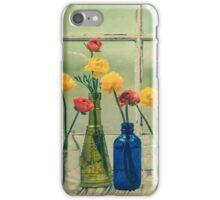 Ranunculus, Bottles and Window Floral Still Life iPhone Case/Skin