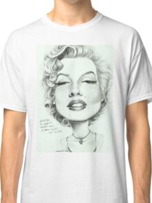 Marilyn (censored) caricature art by Sheik Classic T-Shirt