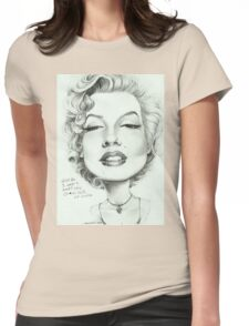 Marilyn (censored) caricature art by Sheik Womens Fitted T-Shirt