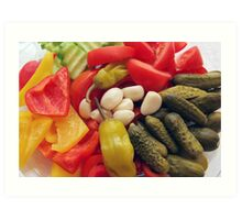 The selection of vegetables. Art Print