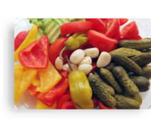 The selection of vegetables. Canvas Print