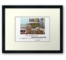 February 2012 - Lost For Words Framed Print