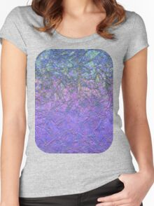 Sparkley Grunge Relief Background Women's Fitted Scoop T-Shirt