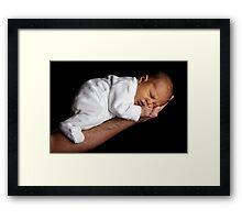Sleeping baby sweet Framed Print